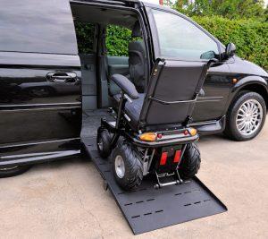 Wheelchair accessible car modification ramp