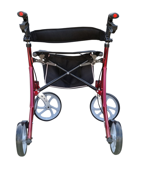 4wheel rollator deluxe folding walking frame for elderly and disability-4WRF