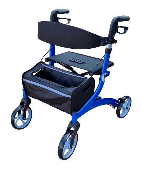 Heavy duty wheel walker for elderly and disability with a basket