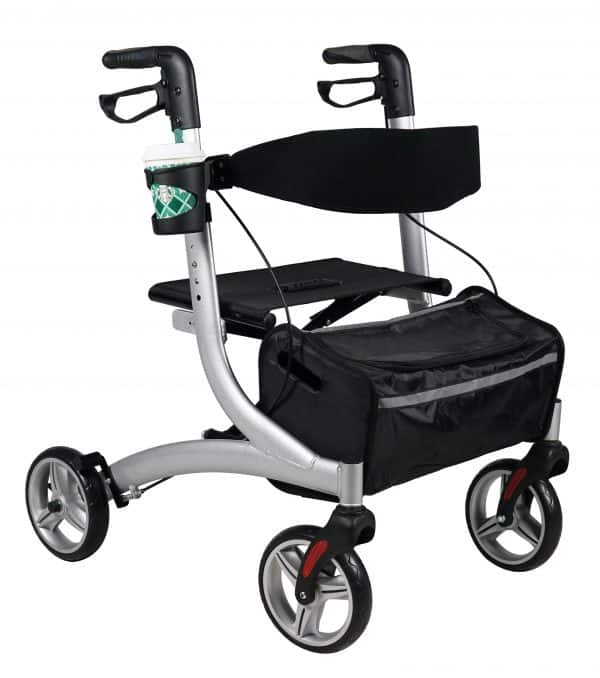4 wheel Rollator light weight with wide Seat Aluminium walking NDIS and Aged care Approved