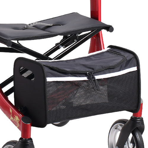 4 Wheel rollator walker with bag folding