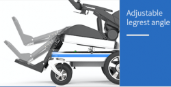 Standing power wheelchair foldable remote controlled