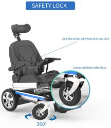 Reclining Electric Power Wheelchair Folding Standing Recliner Mobility chair-OPTIMUM