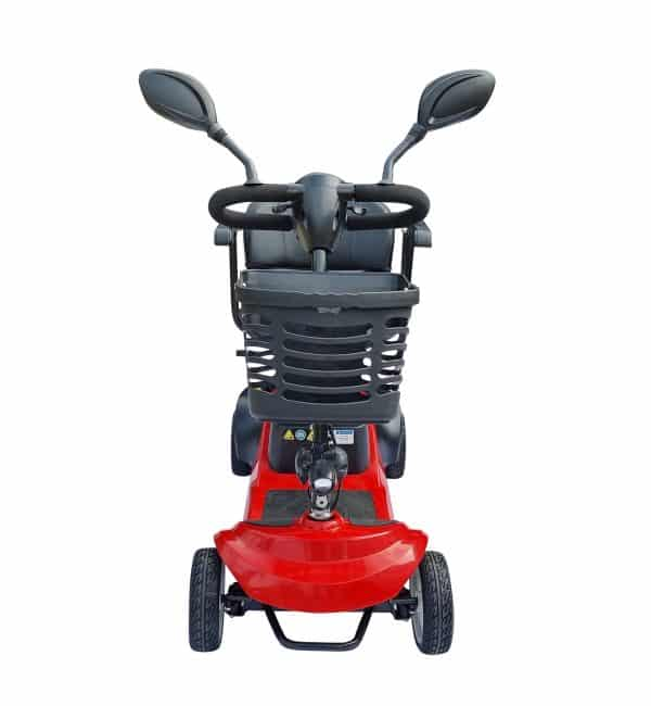 "Scooter mobility electric power rotating seat with mirrors 4 wheel solid tyre 8"" with basket"