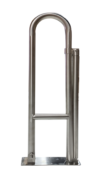 Drop Down Fold Away Stainless Steel Toilet Grab Rail with Leg up to 250kg weight capacity