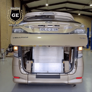 Manual tailgate to automatic electric tailgate conversion. This modification simply replaces the original backdoor of the vehicle with a remote control open and close.