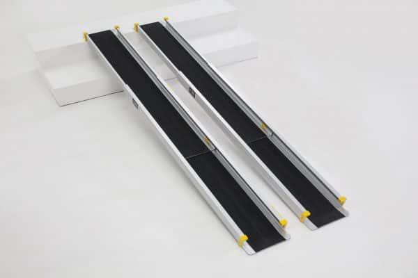 210cm wheelchair ramp 300 kg weight capacity step ramp foldable lightweight