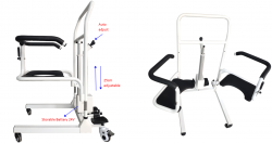Electric Transfer Chair with Adjustable Height on wheels