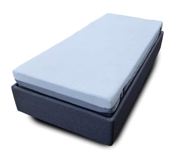 Electric Bed Adjustable Timber Single HI-LO Assistive Bed with Remote Control and Memory Foam Mattress