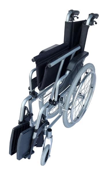 super lightweight wheelchair with attendant brakes
