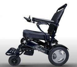 Black Frame Electric wheelchair lightweight folding