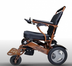 Brown Frame folding wheelchair lightweight electric