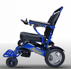 Blue frame light folding wheelchair electric with adjustable backrest