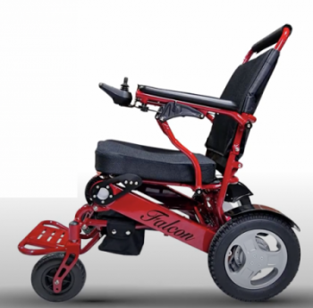 red frame electric wheelchair light folding