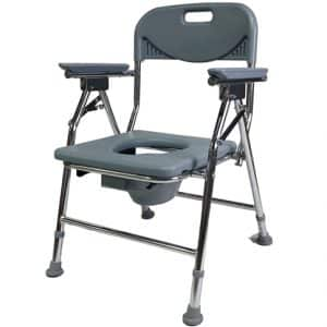 Adjustable Leg Shower Toilet Commode Chair