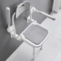 Wall Mounted Foldable Heavy-duty Shower Chair weight capacity 190kg