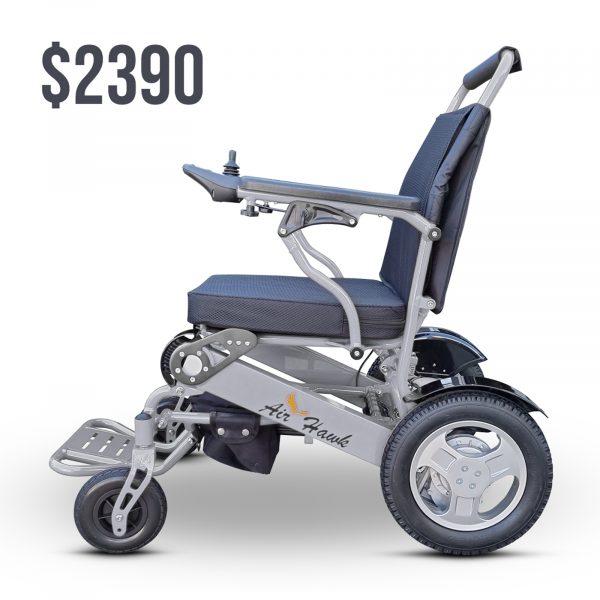 Foldable electric wheelchair lightweight heavy-duty compact motorise chair - Air Hawk