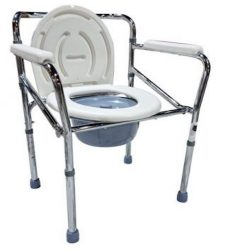 Toilet Aid Commode Chair with Toilet Seat
